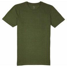 ซื้อ Tshirt ทีเชิ๊ตมาร์ท เสื้อคอกลมผ้าฝ้าย 100 สีเขียวโอลีฟออยล์ ทรง Regular Fit Tshirtmart ออนไลน์