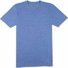 ทบทวน Tshirtmart เสื้อกีฬาคอกลม ฝ้ายมีลานส์ นิ่มและดราย์ สีฟ้า Regular Fit Tshirtmart