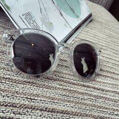 ซื้อ Tucky Jian แว่นตาแฟชั่น กันแดดเคลือบปรอท ขอบใส แถมฟรีกล่องแว่น Int One Size 002259 2 Tucky Jiang