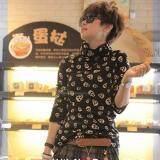 ซื้อ Tucky Jiang เสื้อแฟชั่น แขนยาว ผ้สไหมพรม คอปีน ลายกะโหลก สีดำ Int One Size 9017 Tucky Jiang