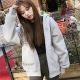 ทบทวน Tucky Jiang เสื้อคลุม มีฮูด แขนยาว ผ้าฝ้าย บุกันหนาว สีพื้น สีเทา 005194
