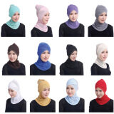 Image 2 for ฝาครอบด้านใน tudung มุสลิม CROSS ผ้าคลุม Lace Hijab - Black - INTL