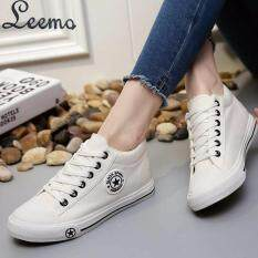 U I Shoes รองเท้าผ้าใบผู้หญิง Leemo 9107 สีขาวขอบดำ ใหม่ล่าสุด