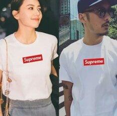 โปรโมชั่น Uniex Supreme Fashion Leisure Cotton T Shirt White Intl Supreme