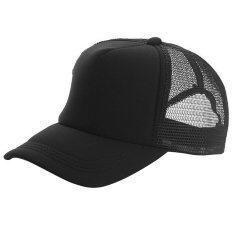 ราคา เล่นกีฬาเบสบอลเพศปรับได้หายใจหายคอว่างตาข่ายป้องกันแสงแดดสวมหมวกสวมหมวกนิยมสีดำ ออนไลน์ สมุทรปราการ