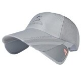 ทบทวน Unisex Fashion Adjustable Uv Protection Summer Sun Baseball Cap Hat With Retractable Brim Extender For Outdoor Beach Walking Fishing Hiking Camping Traveling Grey Intl