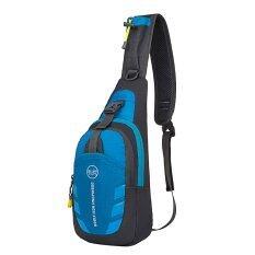 ซื้อ Unisex Leisure Sling Bag Waterproof Splash Outdoor Sport Crossbody Chest Pack Running Hiking Biking Climbing Shoulder Backpack For Iphone 7 6 Apple Ipad Mini 2 3 4 Tablet Blue And Gray Intl ใหม่ล่าสุด