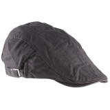 ขาย Unisex Men Women Beret Buckle Flat Cap Cabbie Driving Newsboy Gatsby Golf Hat Gray ใหม่