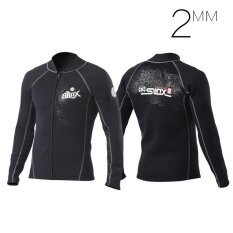 ส่วนลด Unisex Men Women Sport ระดับมืออาชีพฤดูหนาวว่ายน้ำ Thicken 2 มิลลิเมตร Neoprene กำมะหยี่ครีมกันแดด Wetsuit 7091