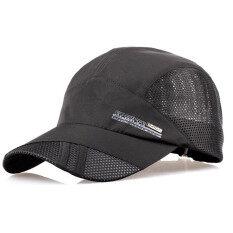 ขาย กีฬาแห้งเร็วปรับได้ตาข่ายเพศ Snapback หมวกแก๊ปสีดำ ถูก Thailand