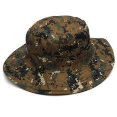 ไม่จำกัดเพศทหาร Camo หมวกเดินป่าท่องเที่ยวดวงอาทิตย์ผมบ๊อบหมวกตกปลากลางแจ้งหมวกโดม ใหม่ล่าสุด