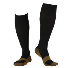 ส่วนลด Unisex Nylon Copper Anti Fatigue Compression Support Socks Xl Black Generic