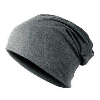 U nisex ผู้หญิงผู้ชายถักหมวกสกีฤดูหนาวที่อบอุ่นหมวกถักหมวกหมวก (สีเทา)-สนามบินนานาชาติ