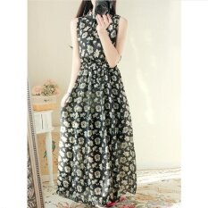 ทบทวน ที่สุด Ur Floral Chiffon Dress Skirt Black Intl