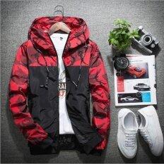 ราคา Ur Korean Fashion Casual Men S Jacket Coat Hoodies Cardigan Blue Intl ใหม่