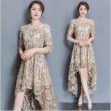 ทบทวน Ur Lace Dress Full Dress Longuette Gold Intl