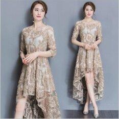 ซื้อ Ur Lace Dress Full Dress Longuette Gold Intl ออนไลน์