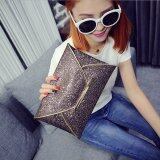 โปรโมชั่น Us Women Sequins Evening Party Glitter Envelope Bag Purse Clutch Handbag Satchel Champagne