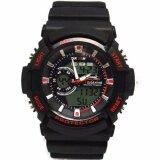 ขาย Us Submarine นาฬิกาข้อมือผู้ชายสปอร์ต 2ระบบ สายเรซิ่น สีดำ Mn Tp3147M Black Red เป็นต้นฉบับ