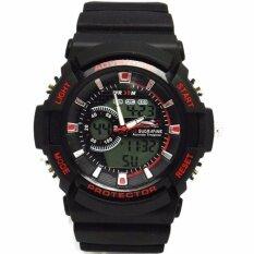 ขาย Us Submarine นาฬิกาข้อมือผู้ชายสปอร์ต 2ระบบ สายเรซิ่น สีดำ Mn Tp3147M Black Red ใหม่