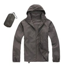ขาย เสื้อผ้าร่มใช้กิจกรรมกลางแจ้งกัน Uv ยี่ห้อFei สีเทาเข้ม Upf40 ผู้ค้าส่ง