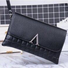 ราคา กระเป๋าถือVคลัทช์ สีดำ Fei ออนไลน์