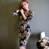 ขาย เกาหลีใหม่อารมณ์ V คอชุดแพคเกจสะโพก สีรูปภาพ ถูก ใน ฮ่องกง