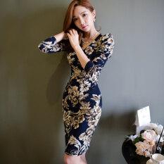 ราคา เกาหลีใหม่อารมณ์ V คอชุดแพคเกจสะโพก สีรูปภาพ ออนไลน์ ฮ่องกง