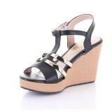 Valenti รองเท้าส้นเตารีดแฟชั่นผู้หญิง รุ่น 15 144 Black สีดำ Valenti ถูก ใน Thailand