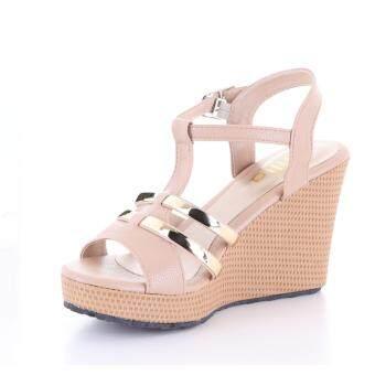 Valenti รองเท้าส้นเตารีดแฟชั่นผู้หญิง รุ่น 15-144 Khaki