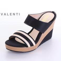 ราคา Valenti รองเท้าส้นเตารีดแฟชั่นผู้หญิง รุ่น 15 163 Black สีดำ ที่สุด