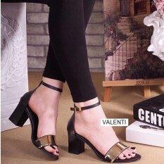 ส่วนลด Valenti รองเท้าส้นสูงแฟชั่นผู้หญิง รุ่น Ft 196 Black สีดำ Valenti