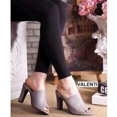 ราคา Valenti รองเท้าส้นสูงแฟชั่นผู้หญิง รุ่น Ft 443 Grey สีเทา Valenti