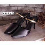 ส่วนลด สินค้า Valenti รองเท้าส้นสูงแฟชั่นผู้หญิง รุ่น Ft 495 Black สีดำ