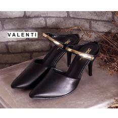 ซื้อ Valenti รองเท้าส้นสูงแฟชั่นผู้หญิง รุ่น Ft 495 Black สีดำ ออนไลน์