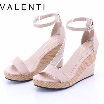 Valenti รองเท้าส้นเตารีดแฟชั่นผู้หญิง รุ่น VL21-5176 Cream