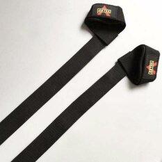 ซื้อ Valeo สแตรปส์รัดข้อมือยกน้ำหนัก Power Lifting Strap 1 คู่ Black ใหม่
