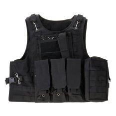 ราคา Vanker Durable Combat Assault Military Hunting Game Army Airsoft Tactical Plate Carrier Vest Black Intl Unbranded Generic