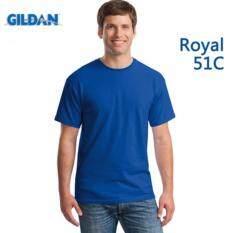 ราคา Vantadee เสื้อยือคอกลม Gildan Premium Cotton สี Royal Blue 51C เป็นต้นฉบับ Gildan