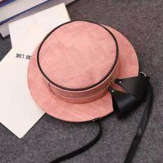 ส่วนลด Vena กระเป๋าแฟชั่นผู้หญิง กระเป๋าสะพายทรงหมวก สีชมพู