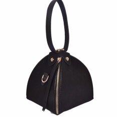 ขาย Vena กระเป๋าแฟชั่นผู้หญิง กระเป๋าถือ หนังทรงสามเหลี่ยม Black