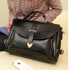 ซื้อ Vena กระเป๋าแฟชั่นผู้หญิง กระเป๋าสะพายไหล่ สะพายพาดลำตัว รุ่น V22 Black ใหม่