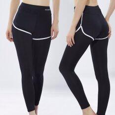 ราคา Vena Wear กางเกงออกกำลังกายผู้หญิง 2In1 กางเกงกีฬา ซับในเลกกิ้ง สีดำขอบขาว Vena Wear