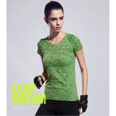 ราคา Vena Wear เสื้อยืดออกกำลังกาย เสื้อกีฬาผู้หญิง เสื้อฟิตเนส โยคะ สีเขียว ใหม่ ถูก
