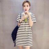 ราคา Venflon ผู้หญิงเกาหลีลายมีฮู้ดเสื้อยืดชุดเดรสมินิ สีขาว นานาชาติ ใหม่ ถูก