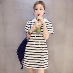 ซื้อ Venflon ผู้หญิงเกาหลีลายมีฮู้ดเสื้อยืดชุดเดรสมินิ สีขาว นานาชาติ ออนไลน์ จีน