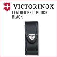 โปรโมชั่น Victorinox Swiss Leather Belt Pouch Black For Knives 02 Type Intl Victorinox