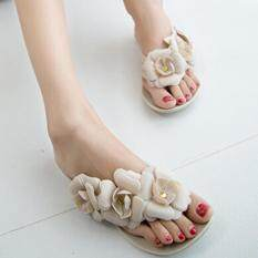 ราคา Victory Camellia Flat Sandals Summer Jelly Women S Shoes(Apricot) Intl Unbranded Generic ใหม่