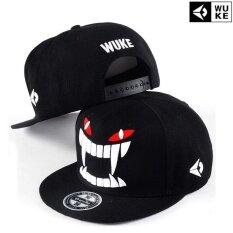 ซื้อ Victory Fashion Man New Hats Big Tooth Flat Edge Cap Hip Hop Baseball Cap Black Intl ออนไลน์ ถูก