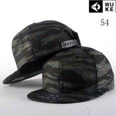 ซื้อ Victory Fashion Man ใหม่หมวกหมวกพรางขอบแบนหมวกสะโพกกระโดด หมวกเบสบอล Multicolor 54 ถูก ใน จีน